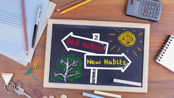 Good habits vs old blog banner