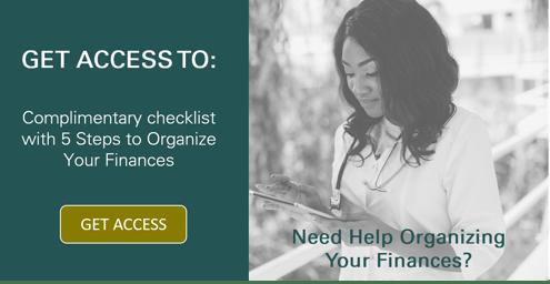 Financial Organization Checklist Button
