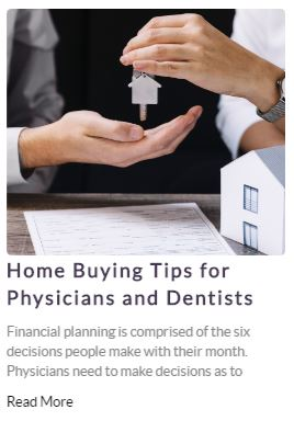 Home Buying Tips for Doctors