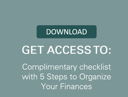 organize finances checklist button